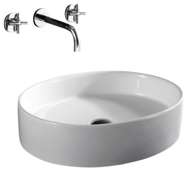 Superior European Style Oval Shape Porcelain Ceramic Bathroom Vessel Sink  Contemporary Bathroom Sinks Good Ideas