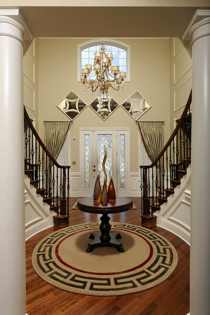 Tietjen foyer   traditional   entry   dc metro   by paula grace ...