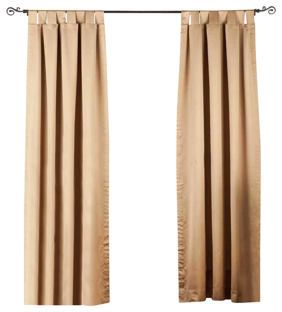 Taupe Tab Top 90% Blackout Curtain, Drape And Panel, 60x84, Piece.