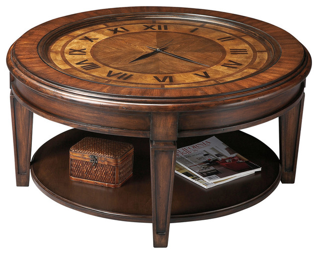 clock cocktail table - traditional - coffee tables -hedgeapple
