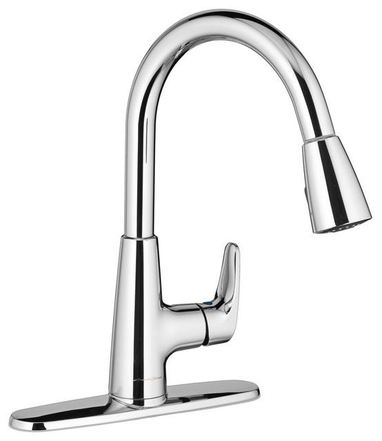 American Standard Single Control Kitchen Faucet, Chrome/silver.