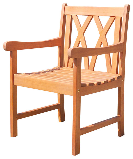 Malibu Eco-Friendly Outdoor Hardwood Garden Arm Chair.