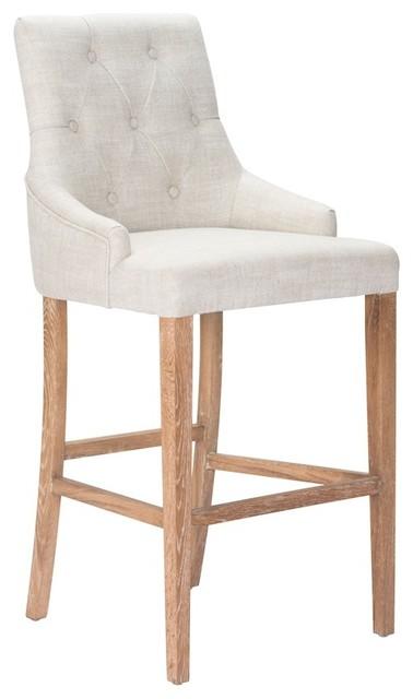 Excellent Zuo Burbank Bar Chair Beige Uwap Interior Chair Design Uwaporg