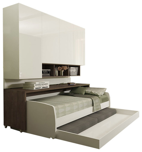 Compact Full Sofa Bed With Cabinet Wall System