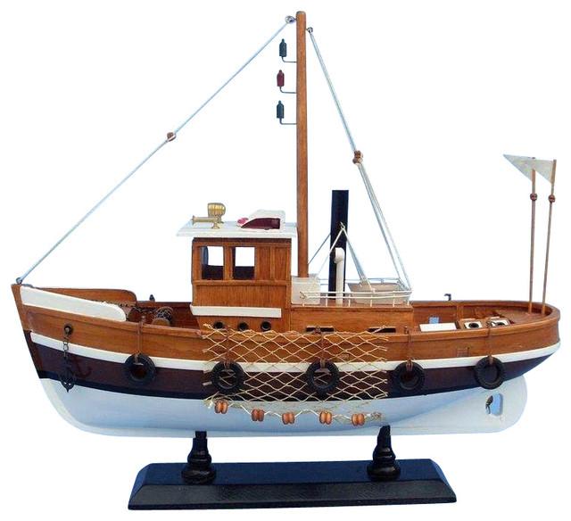 Wooden boats decorative iron