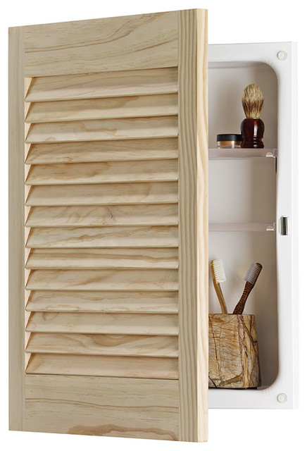 Louver Door 16x24 Rectangle Recess Mount Panel Door Transitional