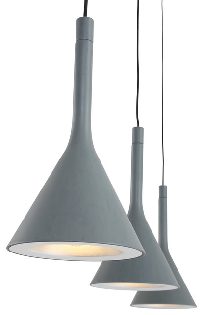Cornucopia Pendant Lamp, Grey, 3 Lights