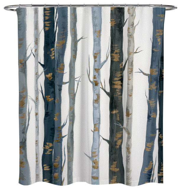 Oliver Gal OliverGal Behind the Woods Shower Curtain, 71x74 by The Oliver Gal Artist Co.