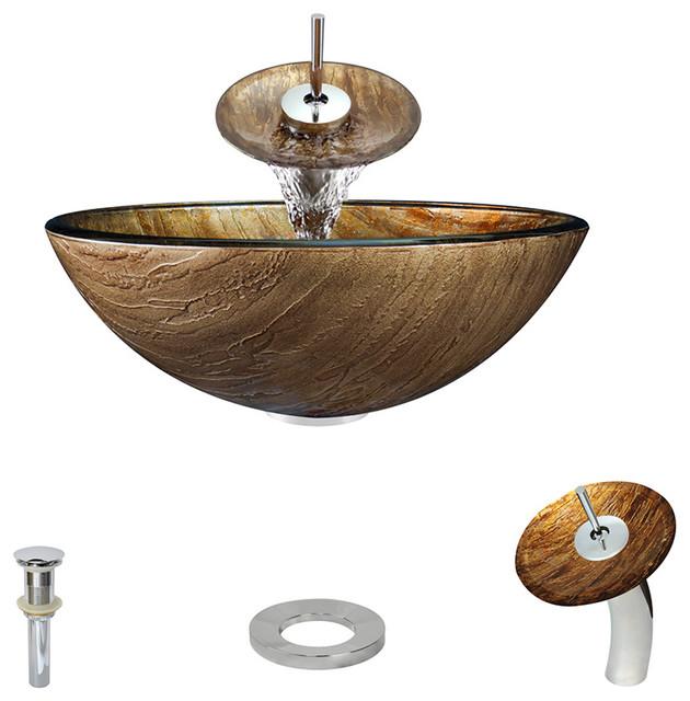 P236-C Bathroom Waterfall Faucet Ensemble