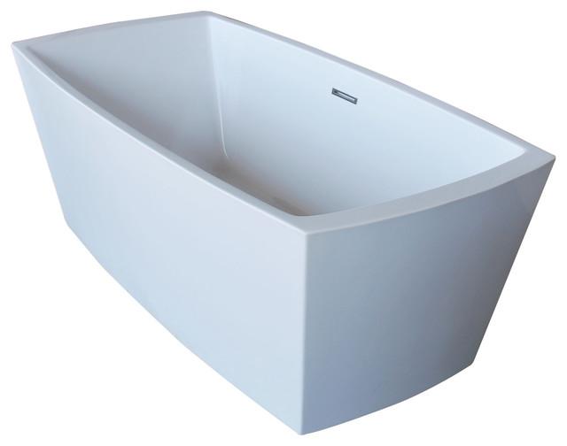 Arthur 67 One Piece Acrylic Freestanding Bathtub, Glossy White By Anzzi by ANZZI