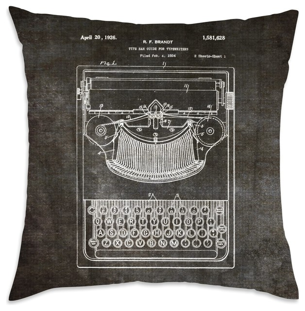 Decorative Pillow Guide : Shop Houzz The Oliver Gal Artist Co. Oliver Gal Brandt, Type Bak Guide For Typewriters, 1926 ...