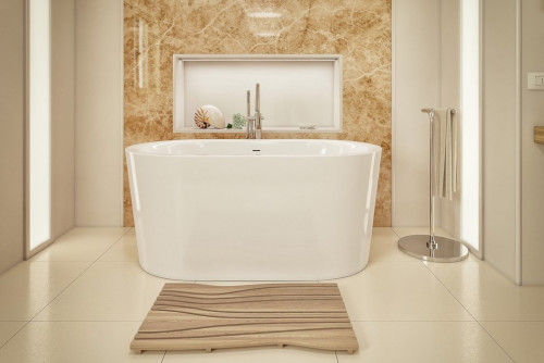 Aquatica Purescape 014A Freestanding Acrylic Bathtub, White