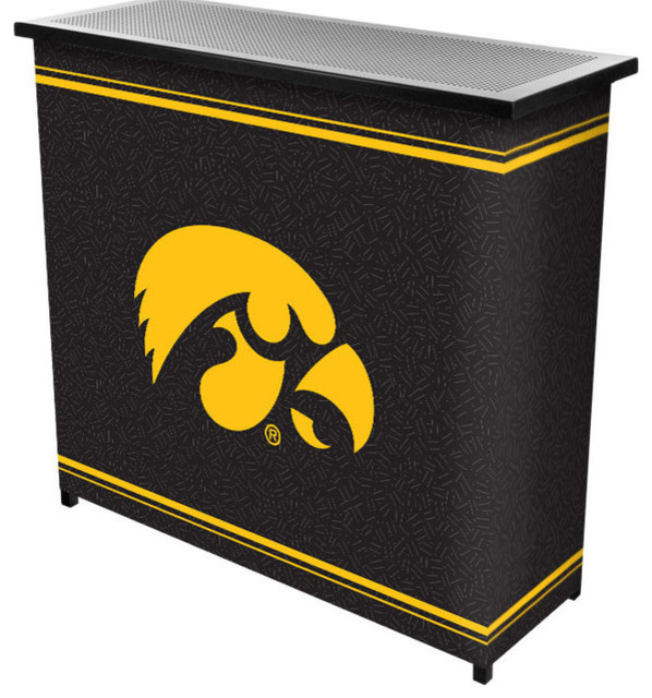 ... Iowa 2 Shelf Portable Bar With Case contemporary-wine-and-bar-cabinets