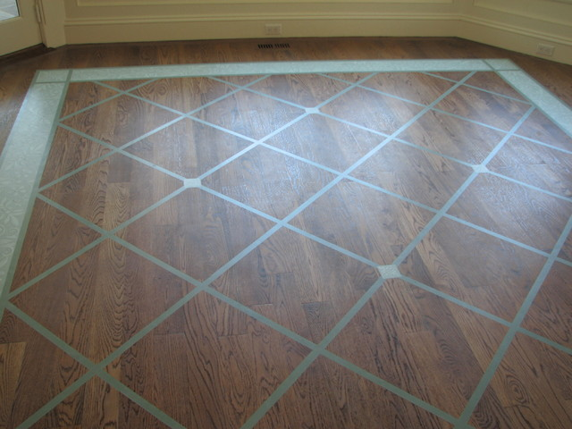 Painted floor rug pattern traditional new york by bella terra designs inc - Floor plans for free paint ...