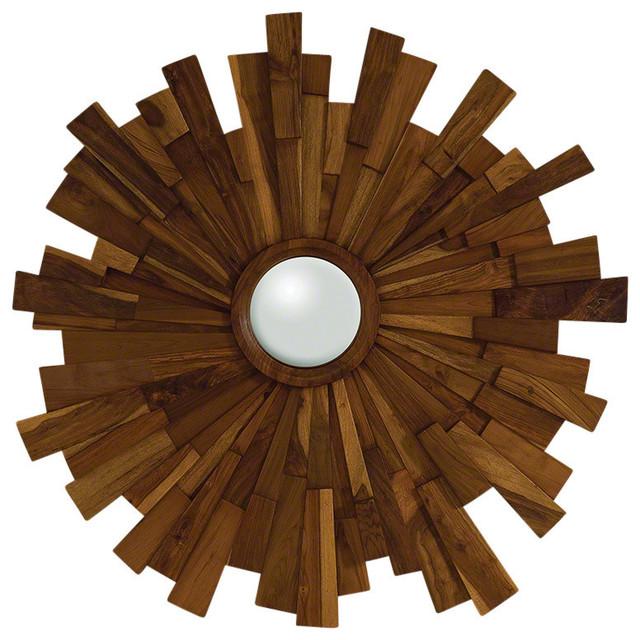 Industrial Wooden Mirror.