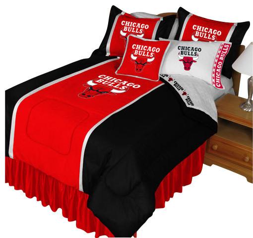 Nba Chicago Bulls Bedding Set Basketball Bed Queen Contemporary Kids