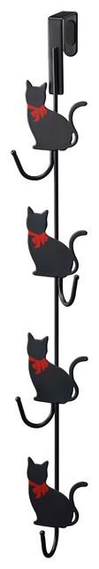 Cat Over-The-Door Hook Black.
