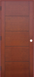 Interior 5 panel reversible handing pre hung door kit for 18 x 80 pantry door