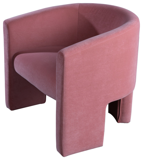 Leblon Barrel Chair On Rose Contemporary Armchairs And Accent Chairs By Statements By J