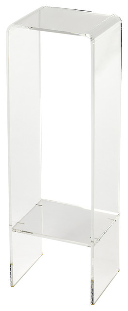 Crystal Clear Acrylic Plant Stand   Clear Contemporary Plant Stands  And Telephone