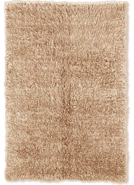 3A Flokati Rug Tan 3x5 Transitional Area Rugs by