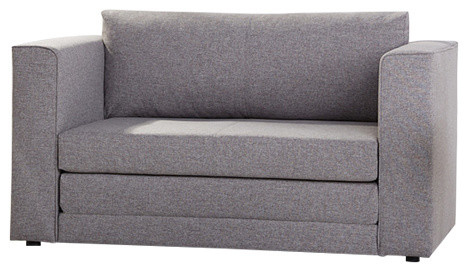 Corona Convertible Loveseat Sleeper, Ash.