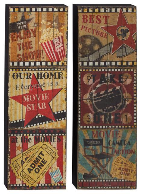 2-Piece Movie Theater Wall Panel Set. -1