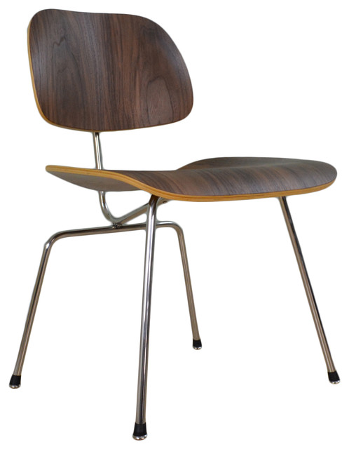 helena dining chair molded american walnut plywood with metal base