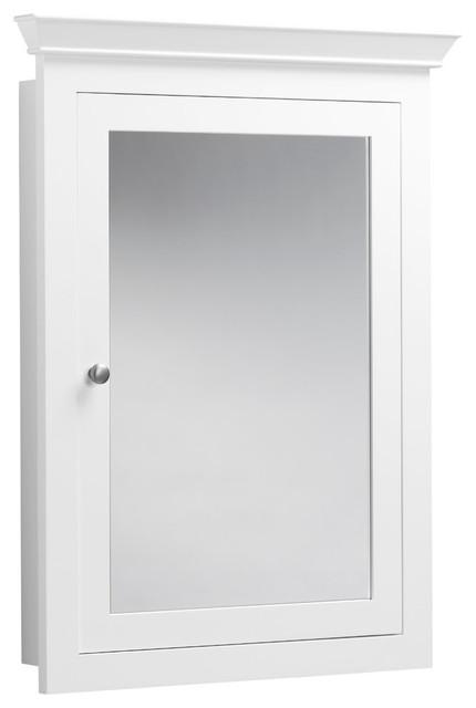 """Miller Medicine Cabinet, White, 27""""x34""""."""