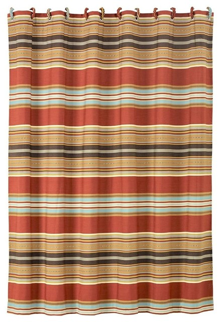 Western//Southwest Free Shipping Canyon View Shower Curtain