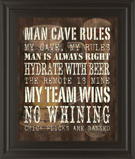 Man Cave Rules Artwork : Quot man cave rules by dewitt game room wall art and signs