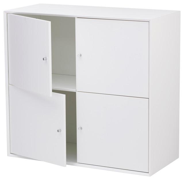 Hms Furniture Mdf Furniturebox With 4 Square Doors.