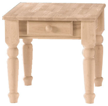 International Concepts Traditional Unfinished End Table
