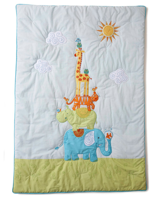 Funny Friends Quilt Contemporary Baby Quilts By The Little Acorn