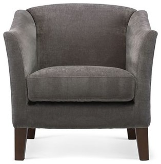 Melrose Accent Chair Zinc Contemporary Armchairs Accent Chairs B