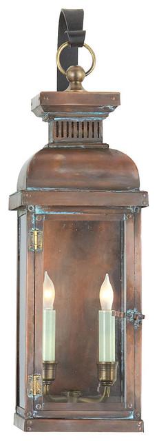 E. F. Chapman Suffork Medium Scroll Arm Lantern, Natural Copper