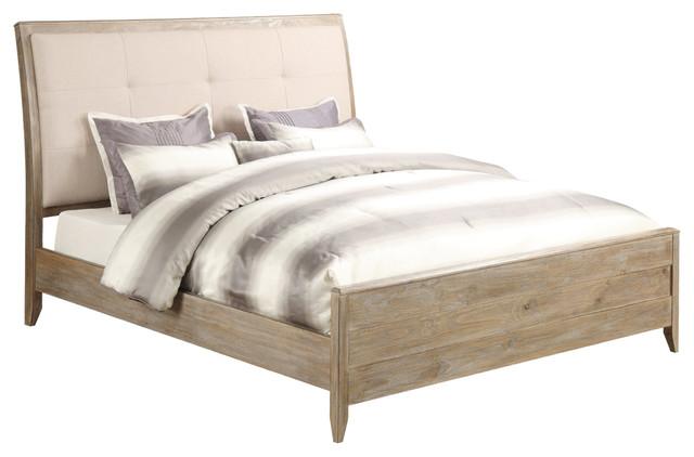 Barnsley Panel Bed, Oat, King.