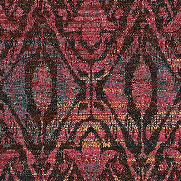 Ophelia Overdyed Ikat Floral Brown and