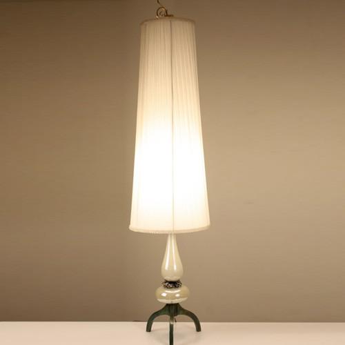 Murano Glass Table Lamps: Pair Paris Flea Market French