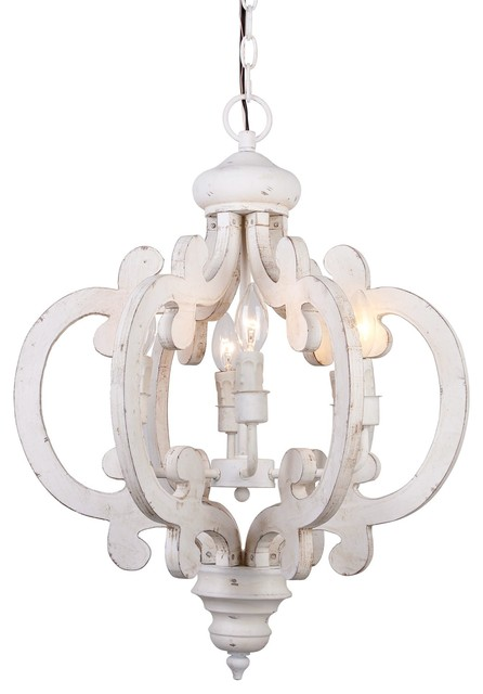 Venice Wooden Chandelier Antique White Farmhouse Chandeliers By Whoselamp