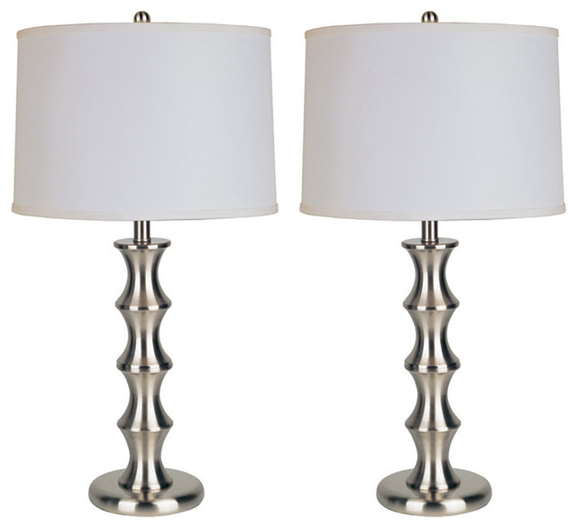 Sherman Steel 28.5&x27;&x27; Table Lamps, Set Of 2.