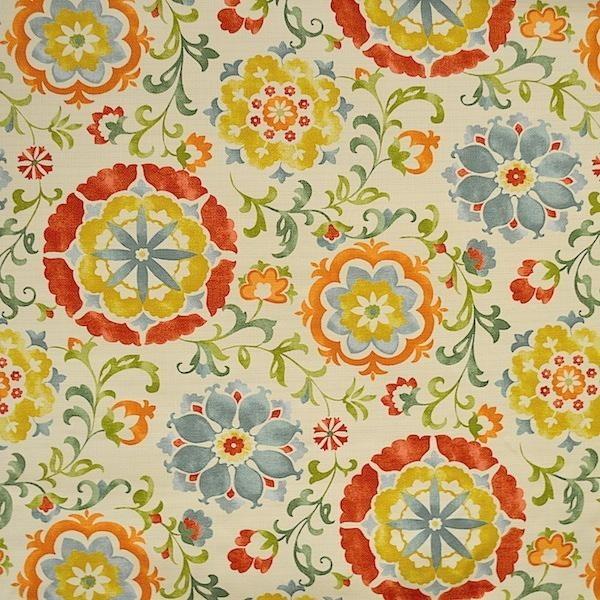 Farns Botanical Upholstery and Drapery Fabric