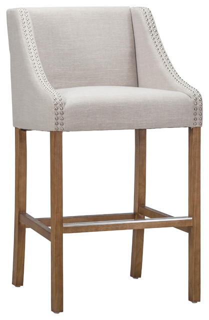 Awesome Castaic Stool By Kosas Home French Beige Counter Height Gmtry Best Dining Table And Chair Ideas Images Gmtryco