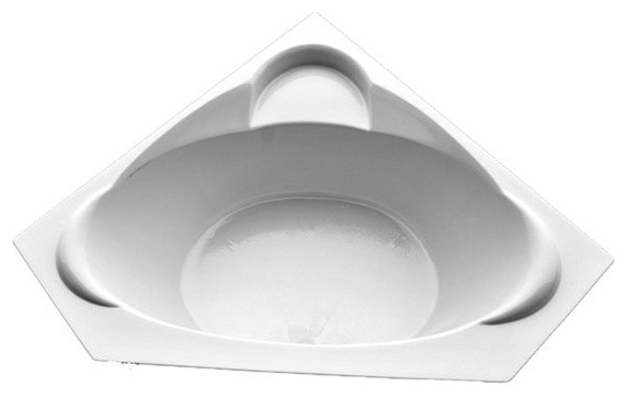 American Acrylic And Injection Corner Combination Tub, White.