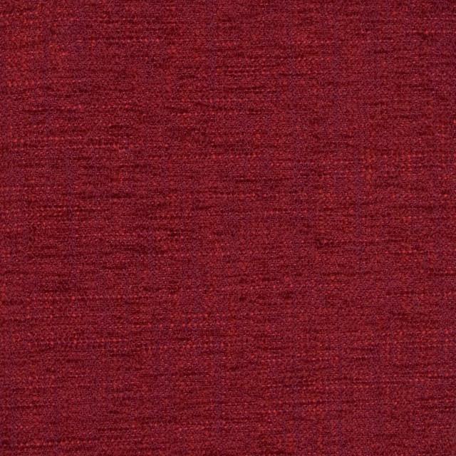 Kovi Fabrics Cranberry Red Solid Chenille Texture