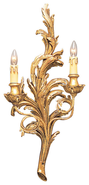 French Gold Leaf Sconce - Wall Sconces - by Decorative Crafts