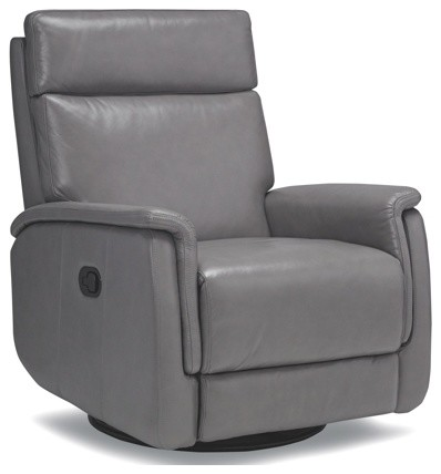 Stylish gray recliner with swivel base contemporary recliner chairs by artefac - Fashionable recliners ...