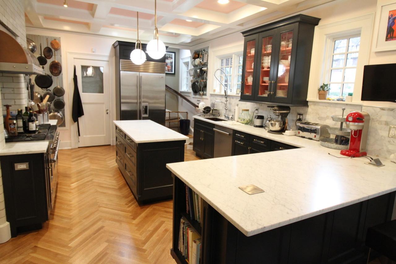 Classic American Tudor Kitchen, Pantry, Breakfast nook renovation