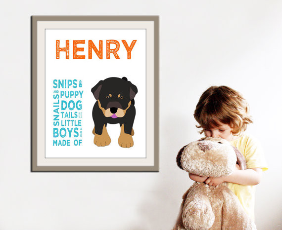 Personalized Children Art For Boys By Wallfry