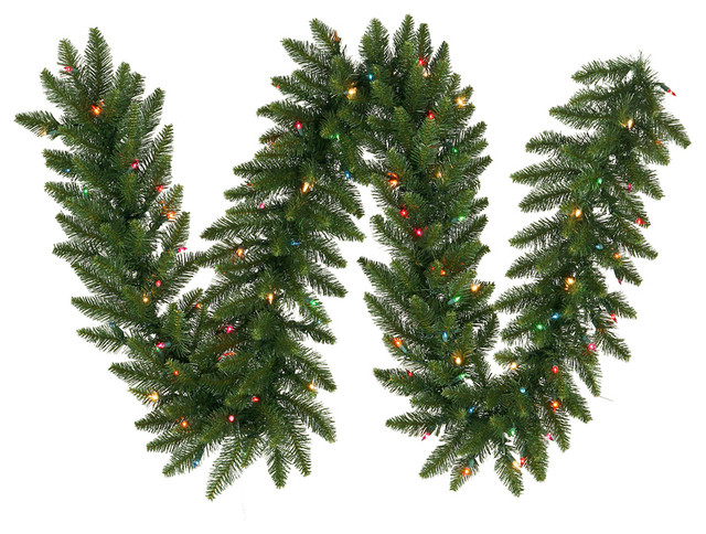 "50&x27;x16"" Camdon Fir Garland, 1500 Tips 500 Multi-Color."